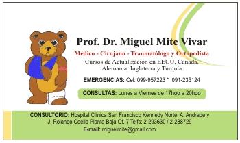 tarjetas para traumatologos