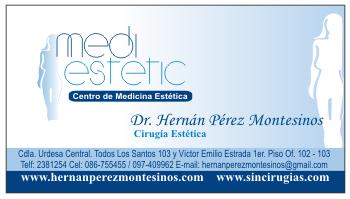 Tarjetas de presentacion de medico cirujano plastico