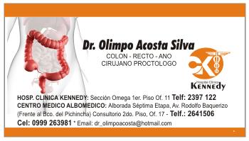 tarjetas de presentacion para cirujano coloproctologo