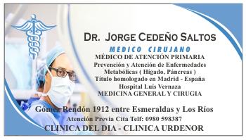 Tarjeta de visita para medico cirujano