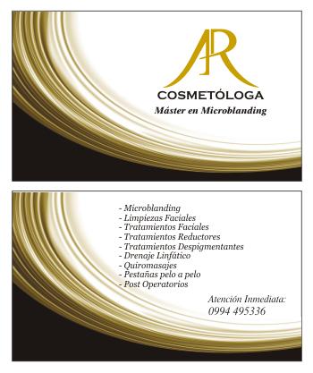 Tarjetas de presentación para cosmetólogas