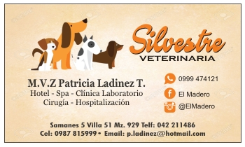 Tarjetas de visita para médico veterinario