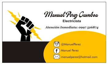 Tarjetas de presentación para electricistas