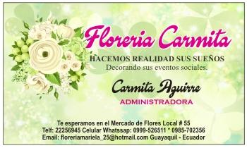 Tarjetas de presentación para florería