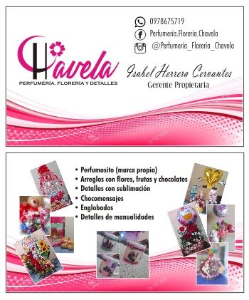 Tarjetas de presentación para floristería