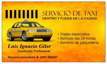 Tarjetas de presentacion para taxistas