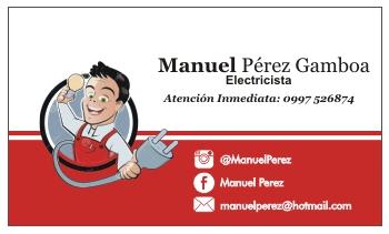 Tarjetas de visita para electricistas