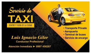 Tarjetas de visitas de taxis ejecutivos