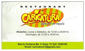 Tarjetas de presentación para restaurantes