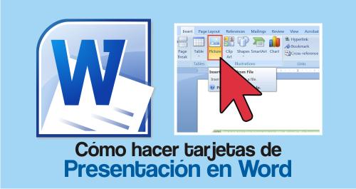 4bb46d13b67ef Cómo Hacer Tarjetas de Presentación en Word ¡¡FACILITO!!