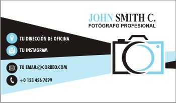 Tarjetas de presentación creativas fotógrafos