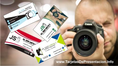 Tarjetas de presentación de Fotógrafos