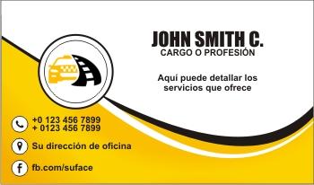 Tarjetas de presentacion de taxis ejecutivos
