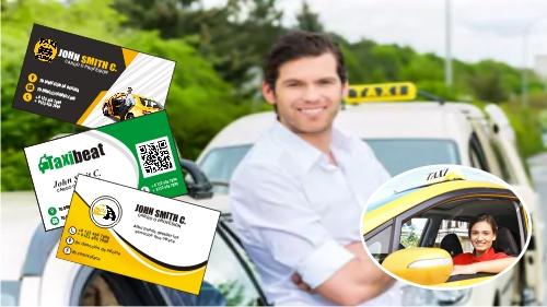 Tarjetas de presentación para taxi