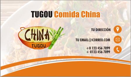 Tarjetas de presentación restaurante de comida china