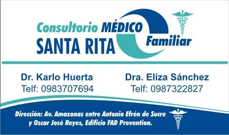 Tarjetas profesionales para centro medico