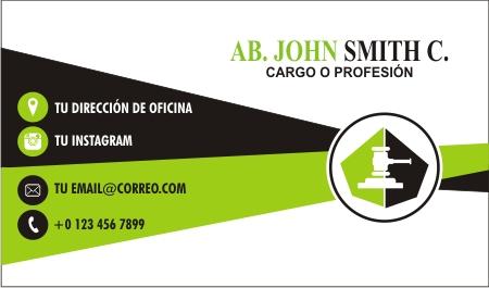 Diseño de tarjeta para abogado en Monterrey