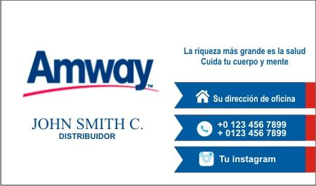 Diseño de Tarjetas de Presentación de Amway