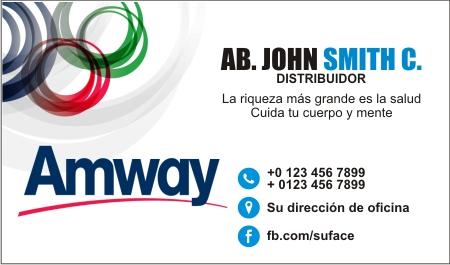 Modelo de Tarjetas de Presentación de Amway