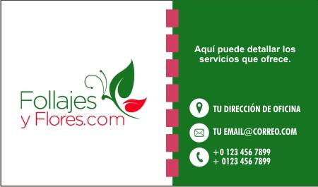 Modelo de tarjetas para florería en Monterrey