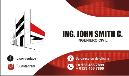 Tarjeta de presentación para ingeniero civil