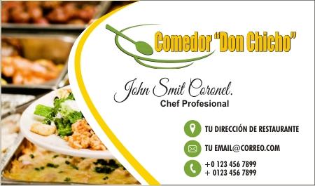 Tarjetas de Presentación restaurante Monterrey