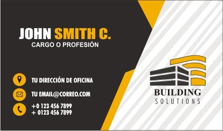tarjetas personales de construcción